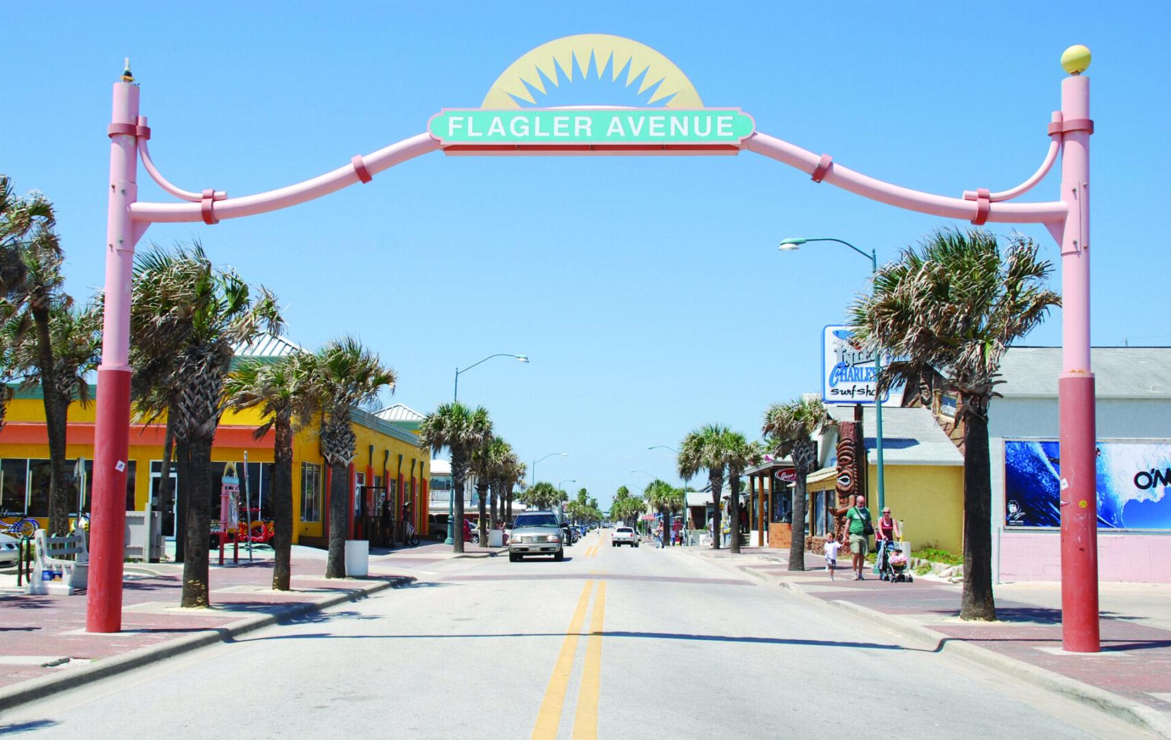 (102616 New Smyrna Beach, FL) Flalgler Avenue in New Smyrna Beach, FL. Photo courtesy New Smyrna Beach Area Convention and Visitors Bureau
